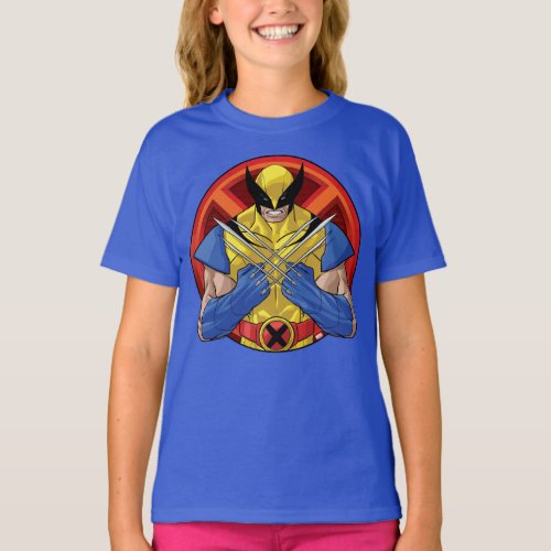 X_Men  Wolverine Character Badge T_Shirt