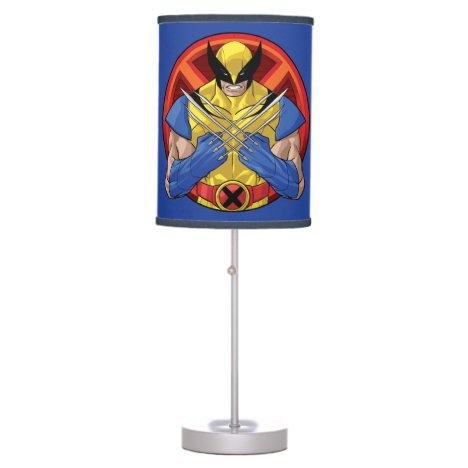 X-Men   Wolverine Character Badge Table Lamp