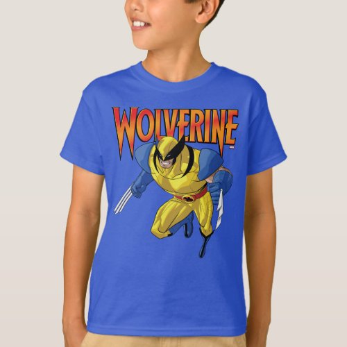 X_Men  Wolverine Running Into A Fight T_Shirt