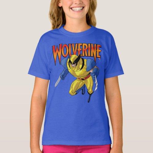 X_Men  Wolverine Running Into A Fight T_Shirt