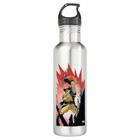 X-Men | Wolverine Slashing Machine Comic Panel Stainless Steel Water Bottle