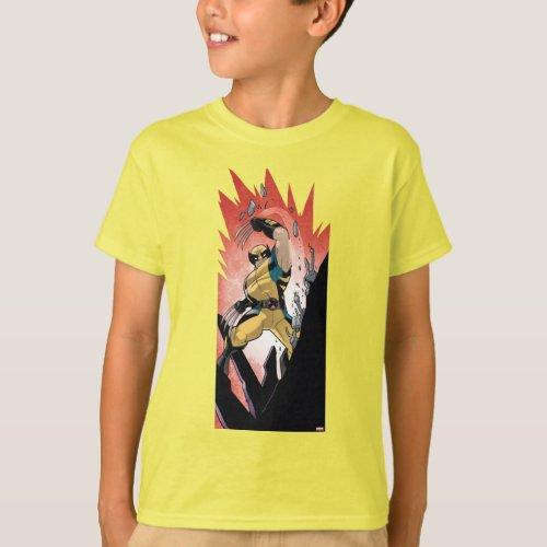 X_Men  Wolverine Slashing Machine Comic Panel T_Shirt