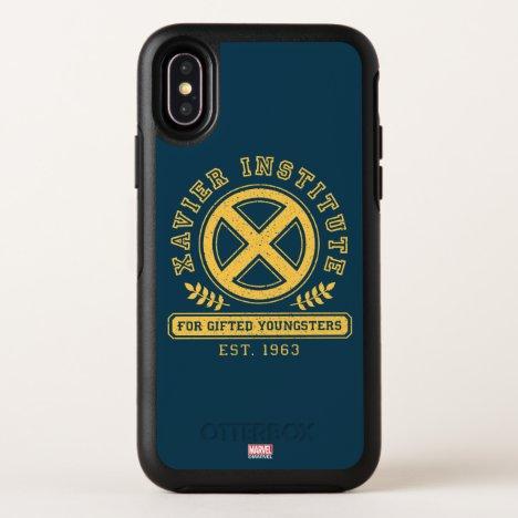 X-Men   Worn Xavier Institute Collegiate Graphic OtterBox Symmetry iPhone X Case