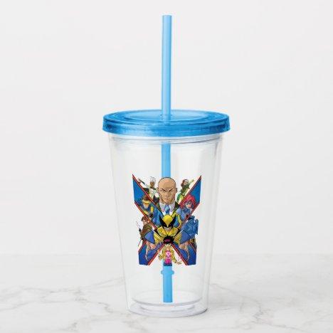 X-Men | X Themed Group Collage Acrylic Tumbler