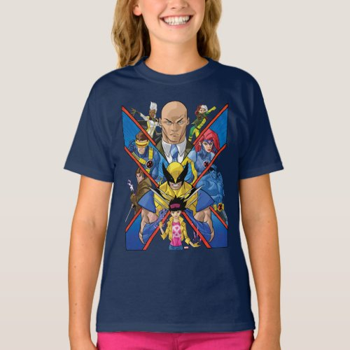 X_Men  X Themed Group Collage T_Shirt