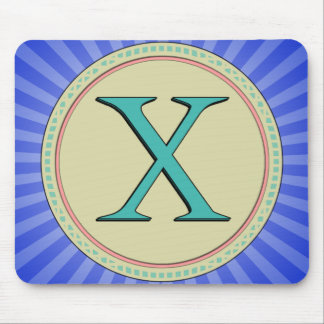 X MONOGRAM MOUSE PAD