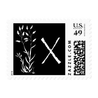 X monograma (planta negra de la lavanda) sellos