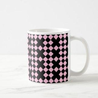 X NEGRO Y ROSADO MARCA EL PUNTO TAZA DE CAFÉ