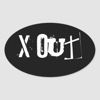 x Out band sticker