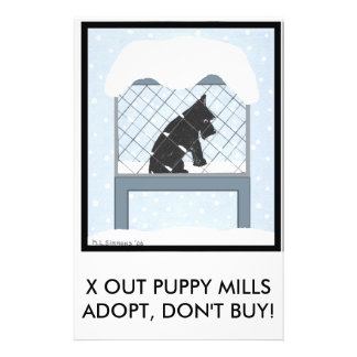 """X OUT PUPPY MILLS 5.5"""" X 8.5"""" FLYER"""