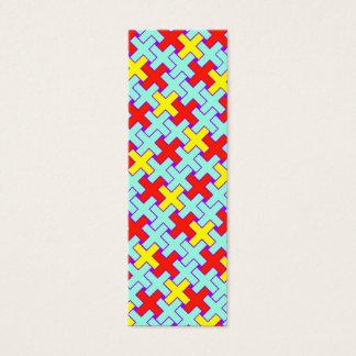 X Pattern Bookmark Mini Business Card
