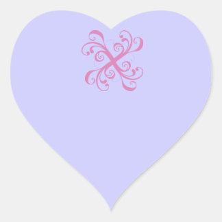 X punto 2 - pegatina en forma de corazón