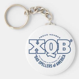 x.Q.B., Bad Spellers of America. Keychain.