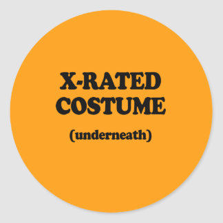 X-RATED COSTUME - Halloween -.png Round Sticker