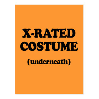X-RATED COSTUME POST CARD