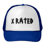 X RATED HATS BY WASTELANDMUSIC.COM AND ZAZZLE.COM