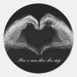 X-Ray Art Round Stickers