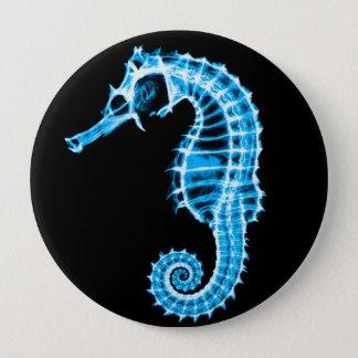 X-Ray Blue Seahorse - Button