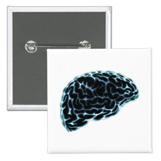 X-RAY BRAIN SIDE VIEW BLUE PINBACK BUTTONS
