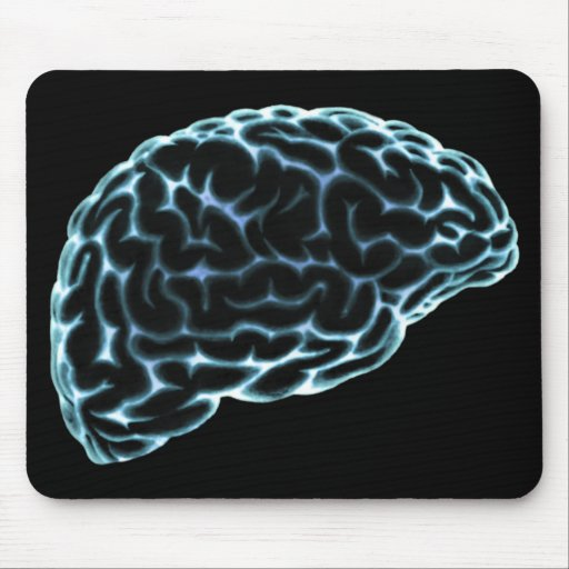 X-RAY BRAIN SIDE VIEW BLUE MOUSEPADS