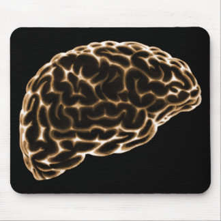 X-RAY BRAIN SIDE VIEW ORANGE MOUSE PAD