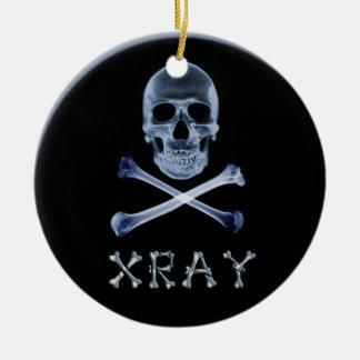 X-RAY CHRISTMAS ORNAMENT SKULL & CROSS BONES