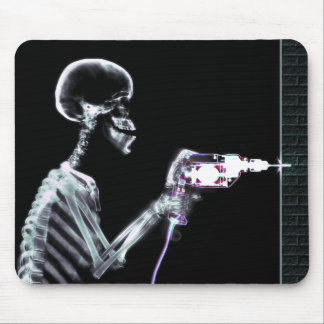 X-RAY CONSTRUCTION SKELETON DRILLING MOUSE PAD