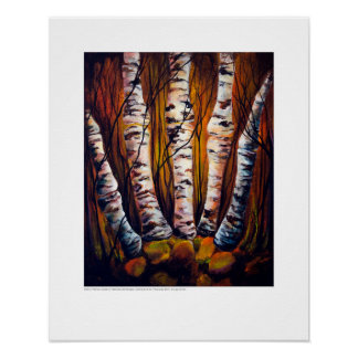 X-ray Cover art – Metacarpal Birch by L. Rainey Poster