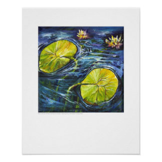 X-ray Cover art - Renal Lilypads by L. Rainey Poster