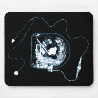 X-RAY DISCMAN - BLACK BLUE MOUSE PAD