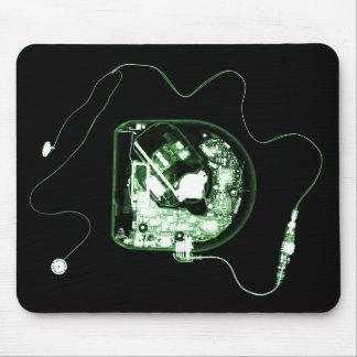 X-RAY DISCMAN - BLACK GREEN MOUSE PAD