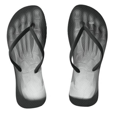 X-Ray Feet Flip Flops (with toe ring)