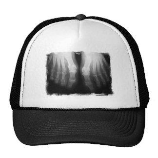 X-Ray Feet Human Skeleton Bones Black & White Trucker Hat