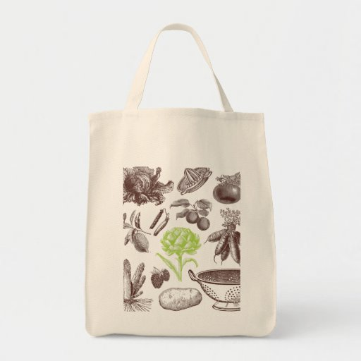 X-Ray Greenmarket Organic Grocery Tote Canvas Bag