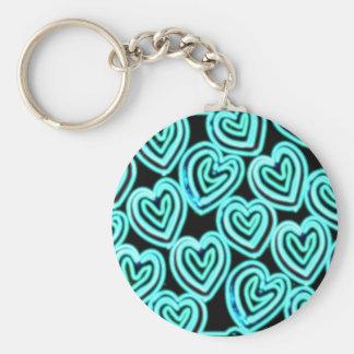 X-Ray Heart Basic Round Button Keychain