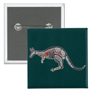 X-Ray Kangaroo Pinback Buttons