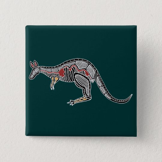X-Ray Kangaroo Pinback Button