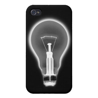 X-RAY LIGHT BULB - BLACK AND WHITE CASE FOR iPhone 4