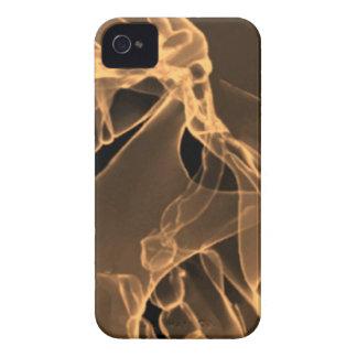 x-ray my skull orange iPhone 4 Case-Mate case