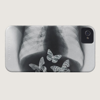 X-ray of butterflies in the stomach Case-Mate iPhone 4 case