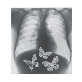 X-ray of butterflies in the stomach notepad
