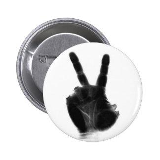 X-ray Peace Sign Pin