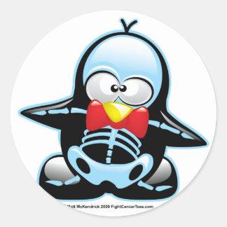 X-Ray Penguin Classic Round Sticker