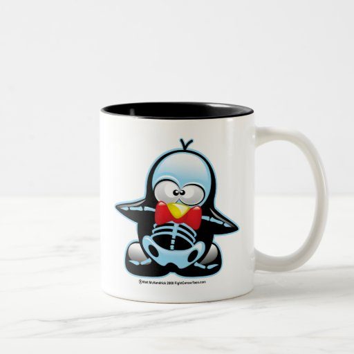 X-Ray Penguin Two-Tone Coffee Mug