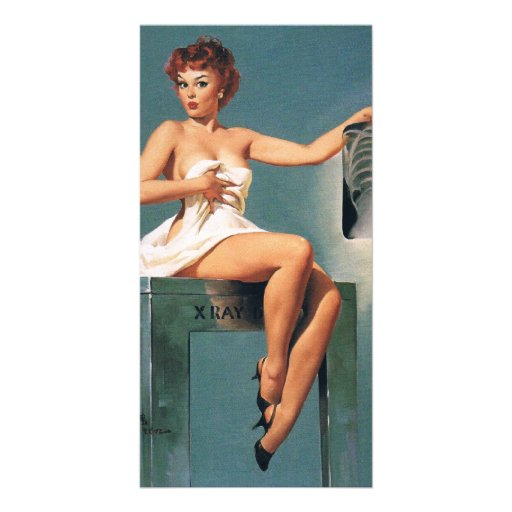 X-Ray Pin Up Girl Personalized Photo Card