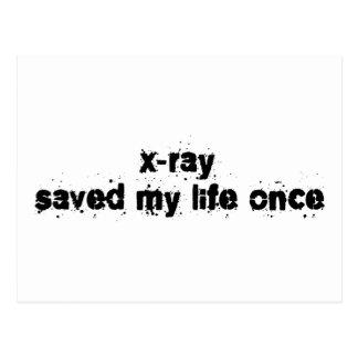 X-Ray Saved My Life Once Postcard