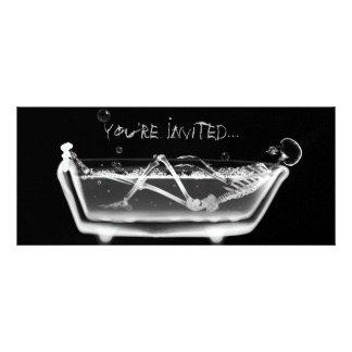 X-Ray Skeleton B W Bath Time Invites