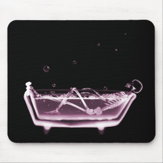X-Ray Skeleton B&W Bath Time Pink Mouse Pad