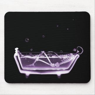 X-Ray Skeleton B&W Bath Time Purple Mouse Pad