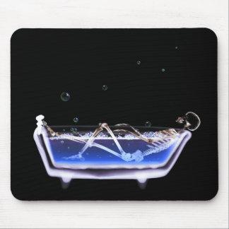X-Ray Skeleton B&W Bath Time Tub Original Mouse Pad